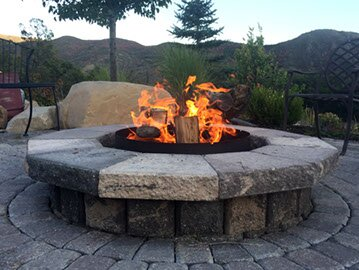 Steel Wood Burning Fire Pit by Volcano Grills