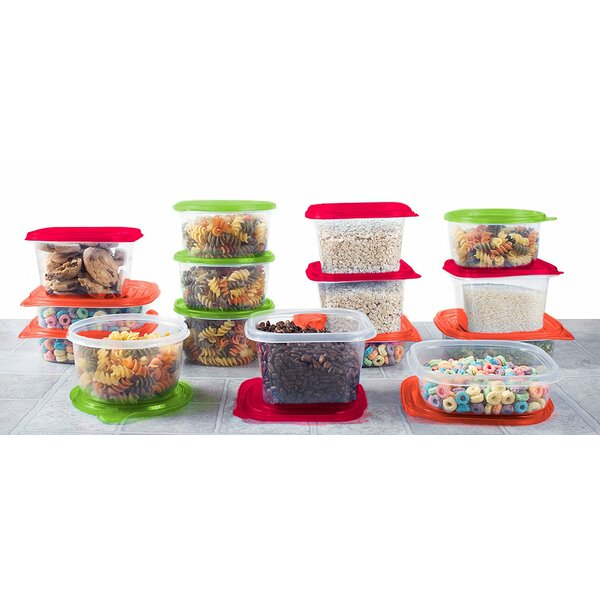 Plastic Meal Prep 15 Container Food Storage Set by Rebrilliant