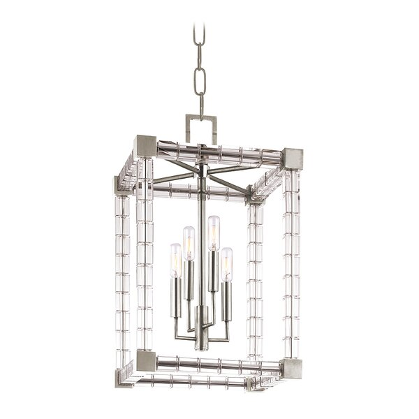 Montauk 4 - Light Candle Style Rectangle / Square Chandelier By Everly Quinn