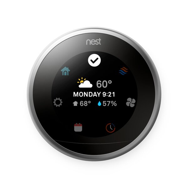 Google Nest Stainless Steel Wi-Fi Enabled By Google Nest