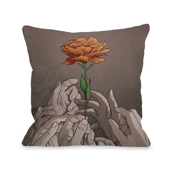 Orange Rose Throw Pillow by One Bella Casa