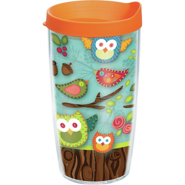 Garden Party Owls No Bark 24 oz. Plastic Travel Tumbler by Tervis Tumbler