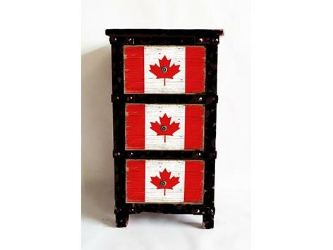 Raoul Canadian Flag 3 Drawer Accent Chest by Millwood Pines