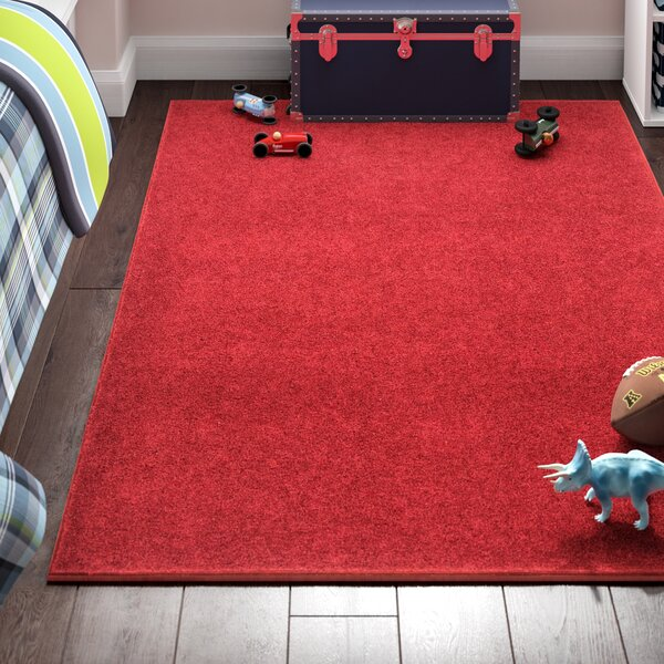 Anika Magna Red Area Rug by Viv + Rae