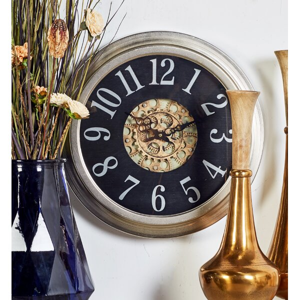 Metal 18 Wall Clock by Cole & Grey