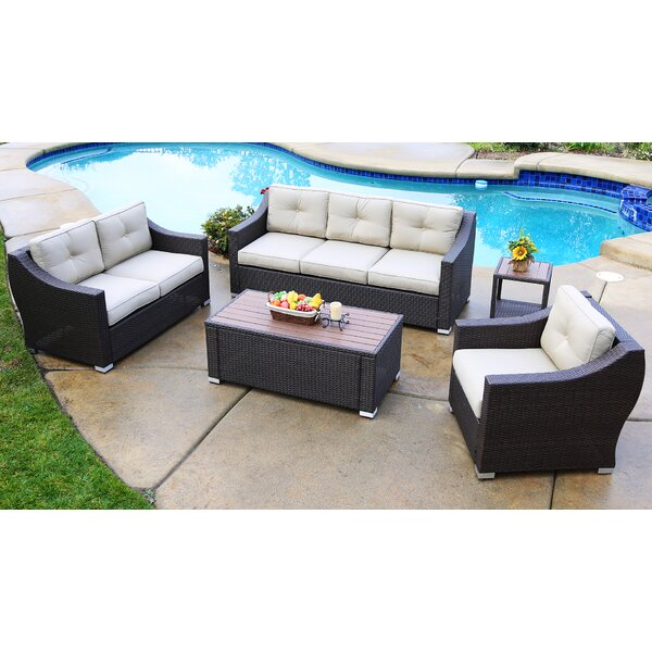 Suai 5 Piece Sofa Seating Group with Cushions Brayden Studio BSTU7612