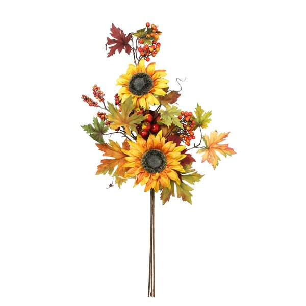 Fall Berry and Sunflower Bundle Spray by The Holiday Aisle