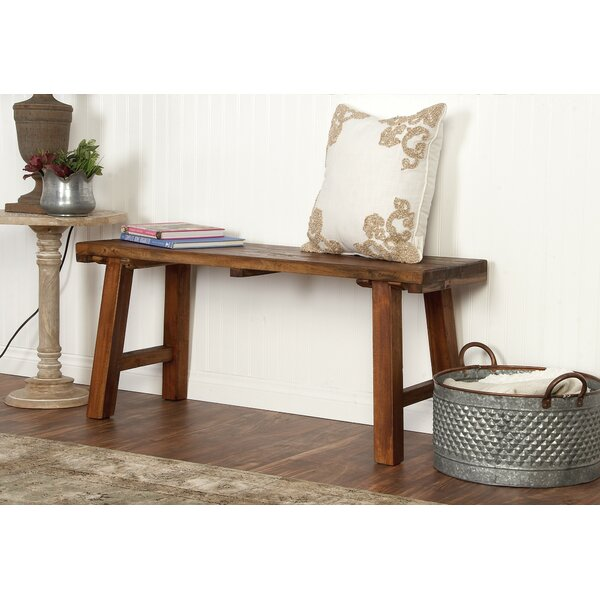 Croll Wooden Bench by Gracie Oaks