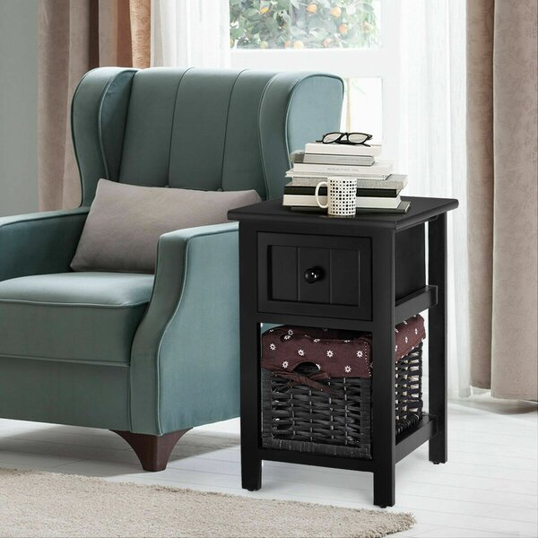 Aquin End Table With Storage By Charlton Home