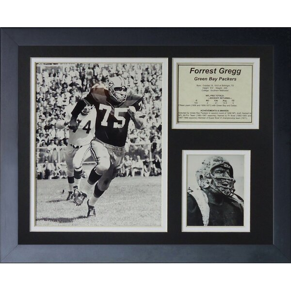 Forrest Gregg Framed Memorabilia by Legends Never Die