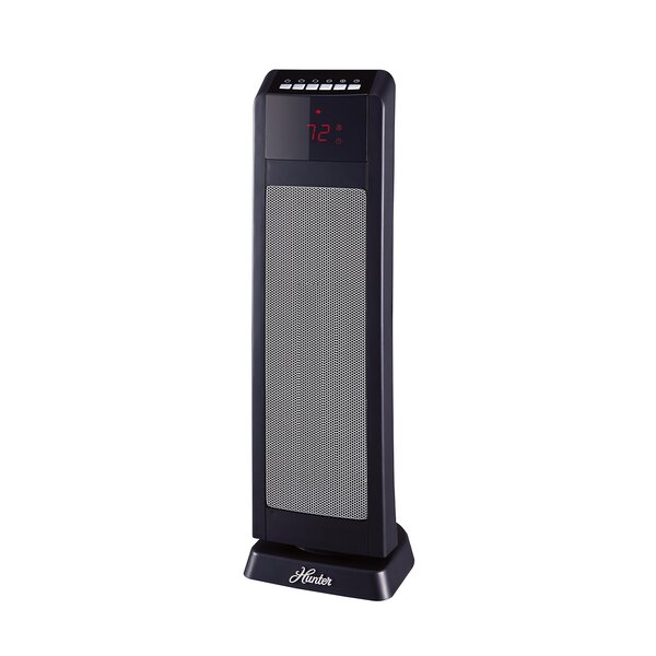 Digital 1,500 Watt Electric Fan Tower Heater With Remote Control By Hunter Home Comfort