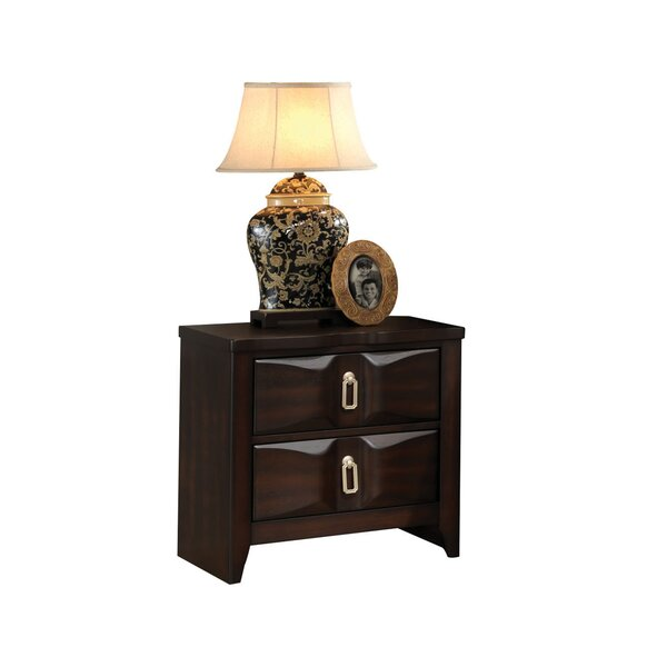 Taylor Cove 2 Drawer Nightstand by Bloomsbury Market