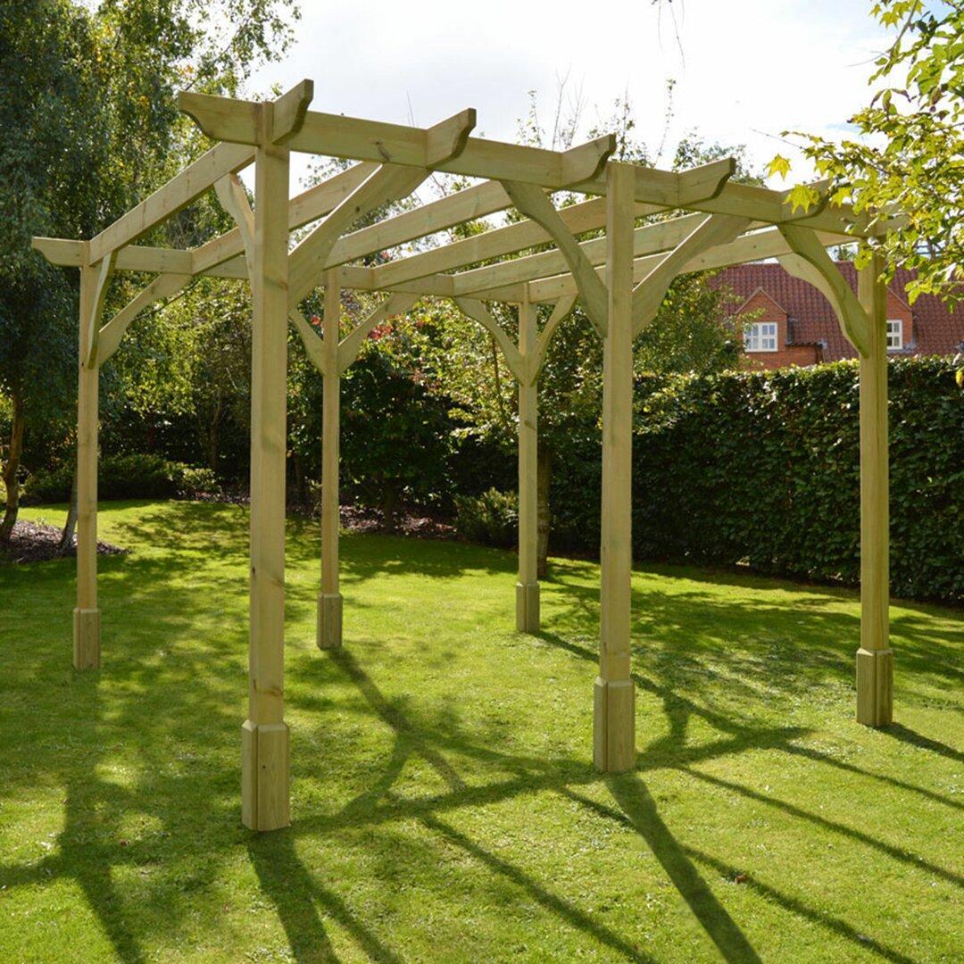 Randi 34m x 140m Manufactured Wood Pergola