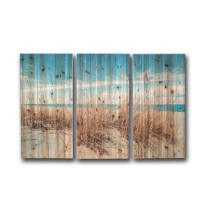 'Sand Dunes Large' 3 Piece Photographic Print on Wood Set by Gallery 57