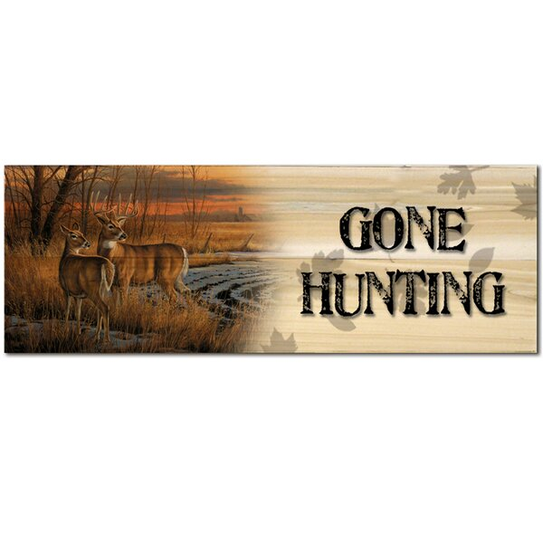 Gone Hunting Daybreak Graphic Art Plaque by WGI-GALLERY