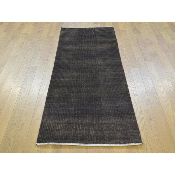One-of-a-Kind Bean Nepali Hand-Knotted Brown Wool/Silk Area Rug by Isabelline