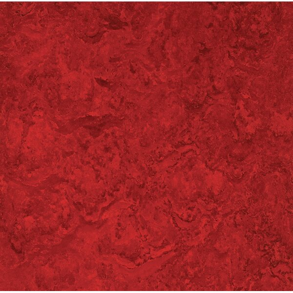 Marmoleum Click Cinch Loc 11.81 x 11.81 x 9.9mm Cork Laminate Flooring in Red by Forbo