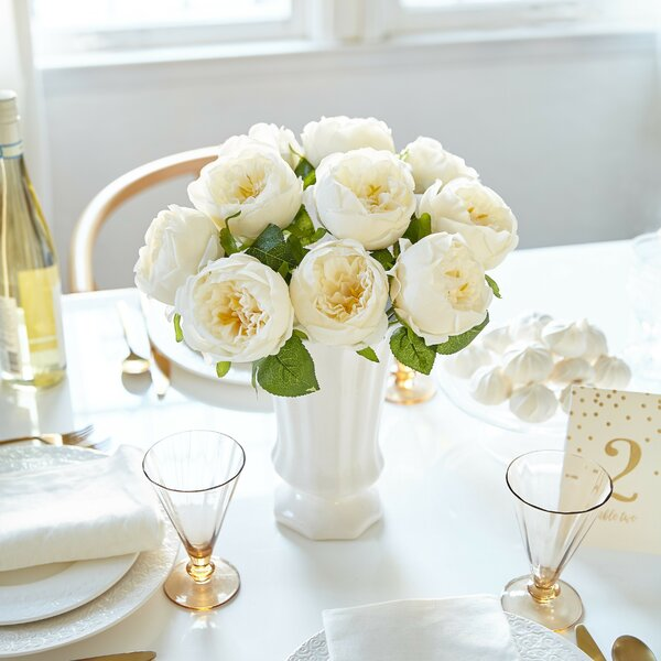 Artificial Peony Silk Flower Centerpiece by House