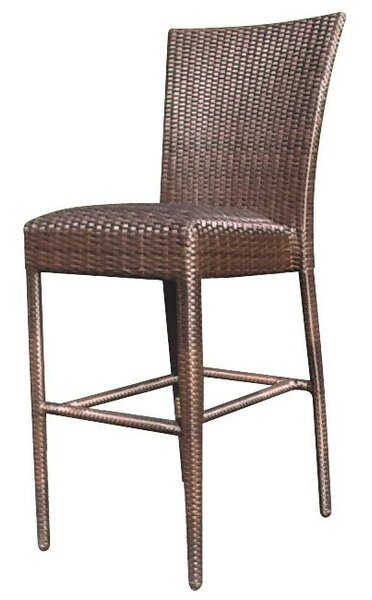 All-Weather Padded Seat 30 Patio Bar Stool without Arms by Woodard