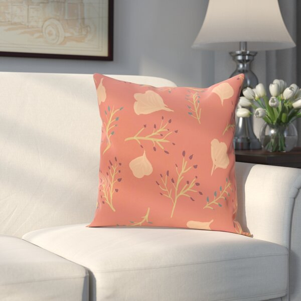 Orchard Lane Spring Blooms Floral Outdoor Throw Pillow by Alcott Hill