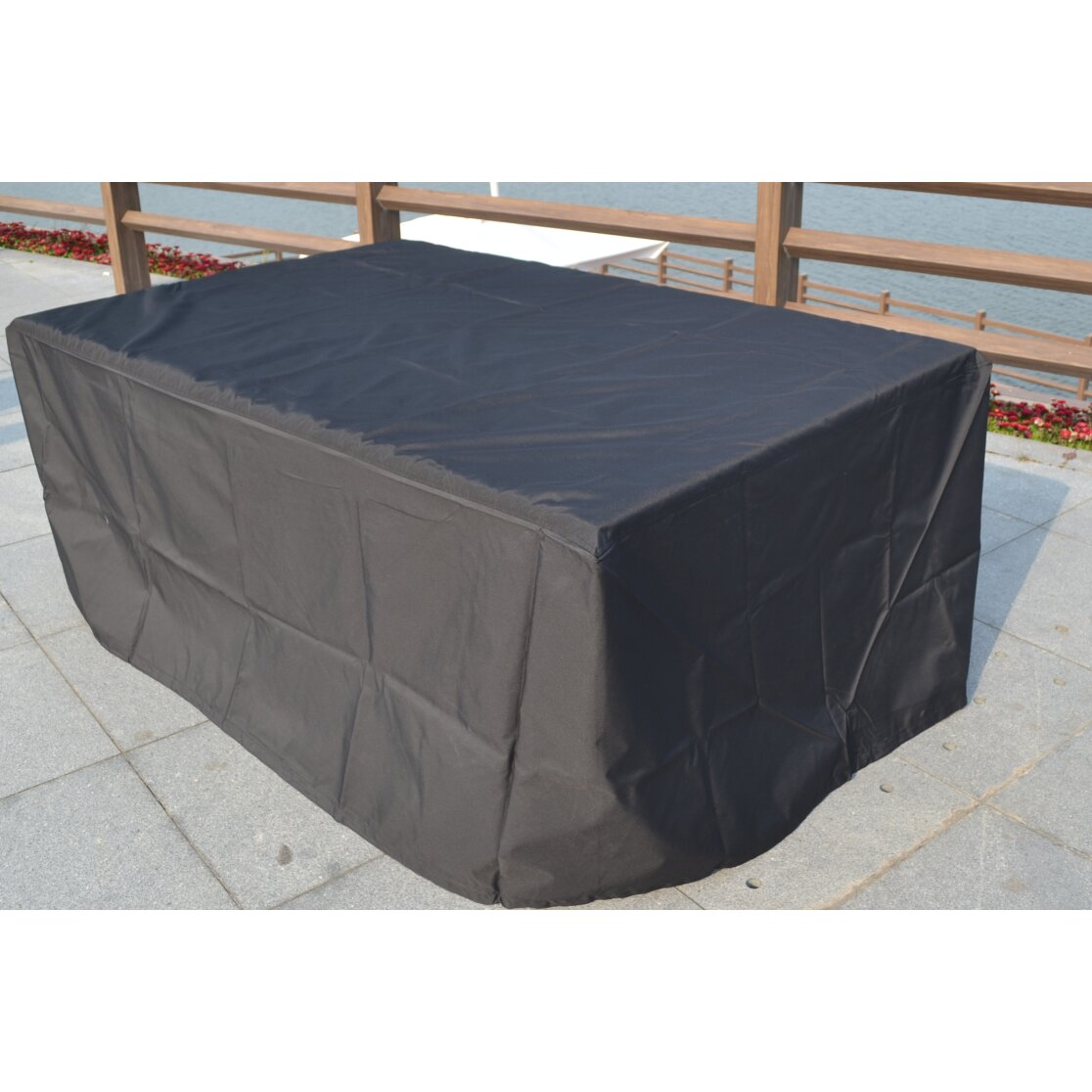 Rebrilliant Rectangular Patio Dining and Sofa Set Cover