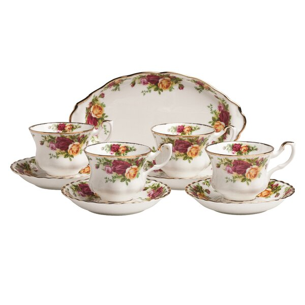 Old Country Roses Tea Set (Set of 9) by Royal Albert