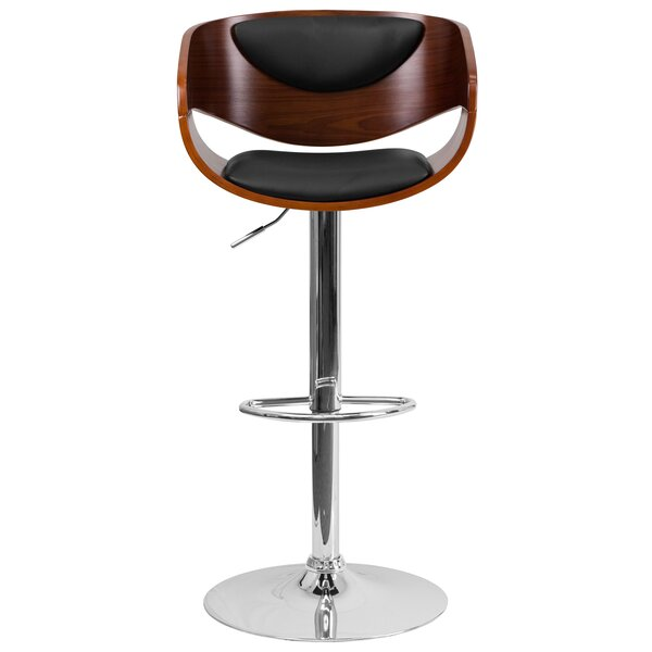 Samson Adjustable Height Swivel Bar Stool by George Oliver