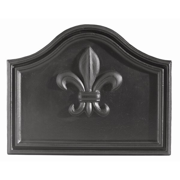 Fleur De Lys Cast Iron Fire Back by Minuteman International