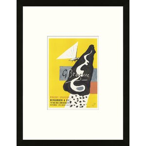 School of Paris 'Galerie Berggruen & Cie. Paris 1953' by Georges Braque Framed Lithograph by Artemis Editions