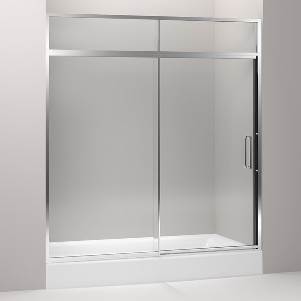 Lattis 72 x 89.5 Single Sliding Shower Door with CleanCoat® Technology by Kohler