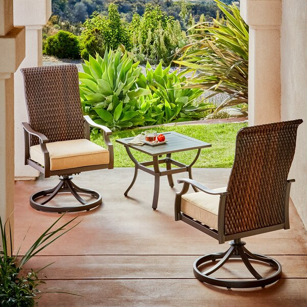 Kinlaw Rhone Valley 3 Piece Bistro Set with Cushions by Bayou Breeze