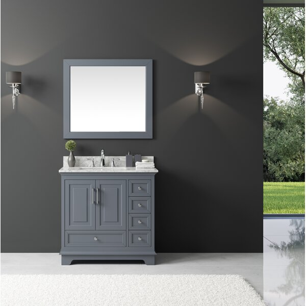Orin 36 Single Bathroom Vanity Set with Mirror by Rosecliff Heights