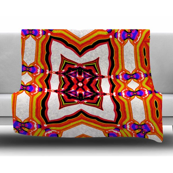 Inspired By Psychedelic Art 4 by Dawid Roc Fleece Blanket by East Urban Home