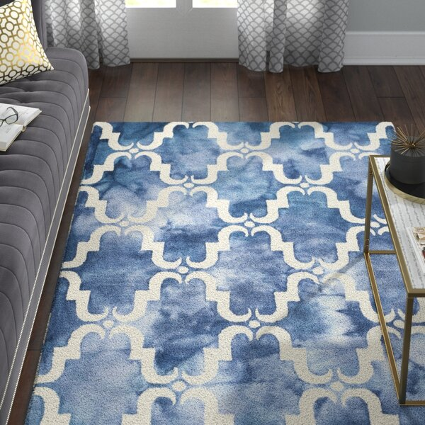 Monroe Hand-Tufted Navy/Ivory Area Rug by Willa Arlo Interiors