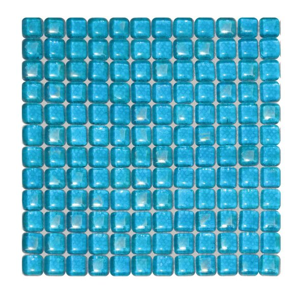 1 x 1 Glass Mosaic Tile in Blue by QDI Surfaces