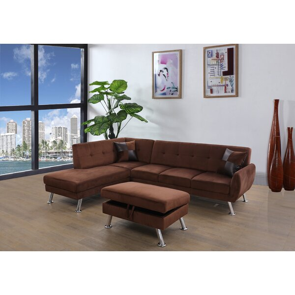 Dolan Modern Sectional With Ottoman By Orren Ellis