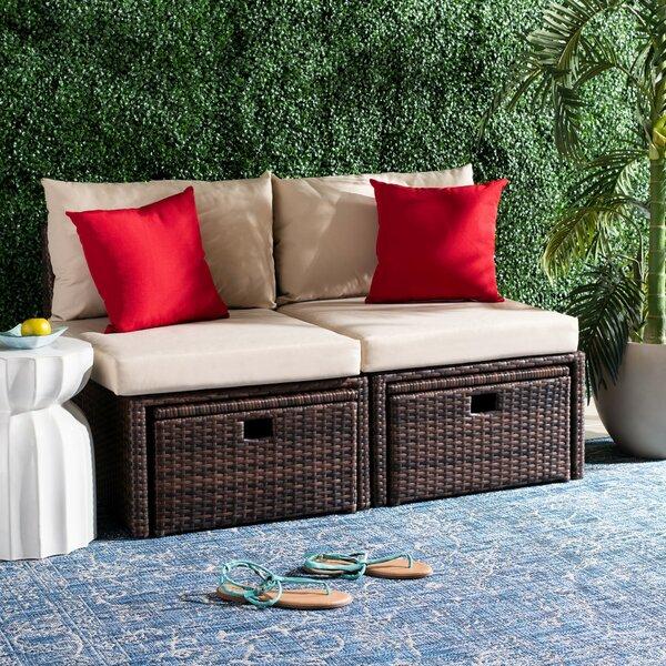 Buchholtz Patio Chair with Cushions by Red Barrel Studio Red Barrel Studio