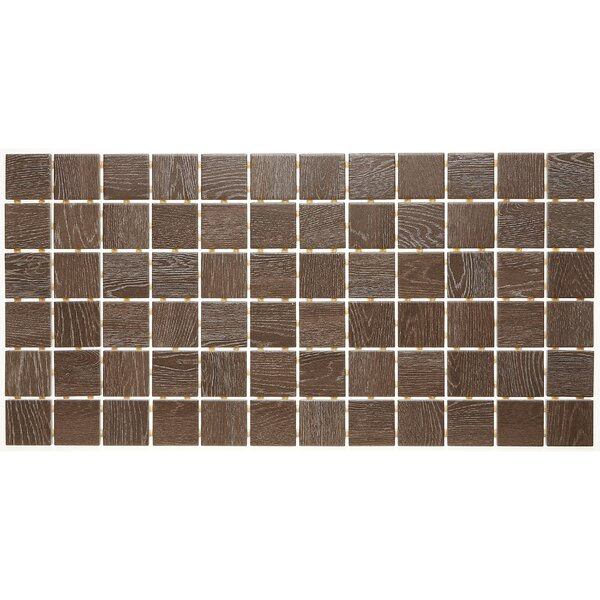 2 x 2 Ceramic Mosaic Tile in Hickory Pecan by Itona Tile