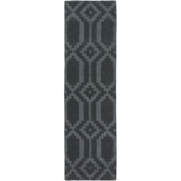 Brack Hand-Loomed Denim Area Rug by Wrought Studio