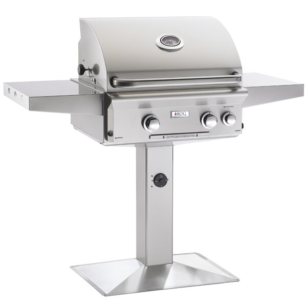 L Series Built-In Natural Gas Grill with Side Shelves by American Outdoor Grill