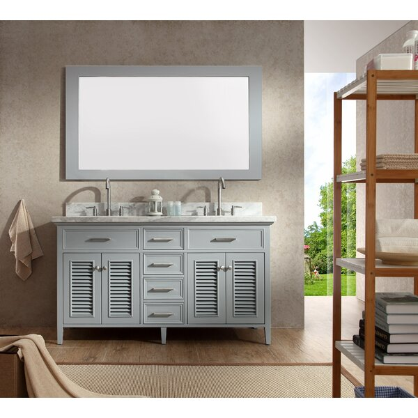 Hamil 61 Double Bathroom Vanity Set with Mirror by Highland Dunes
