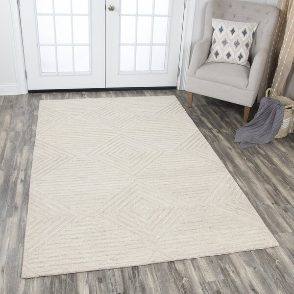 Arcand Hand-Tufted Natural Area Rug by Brayden Studio
