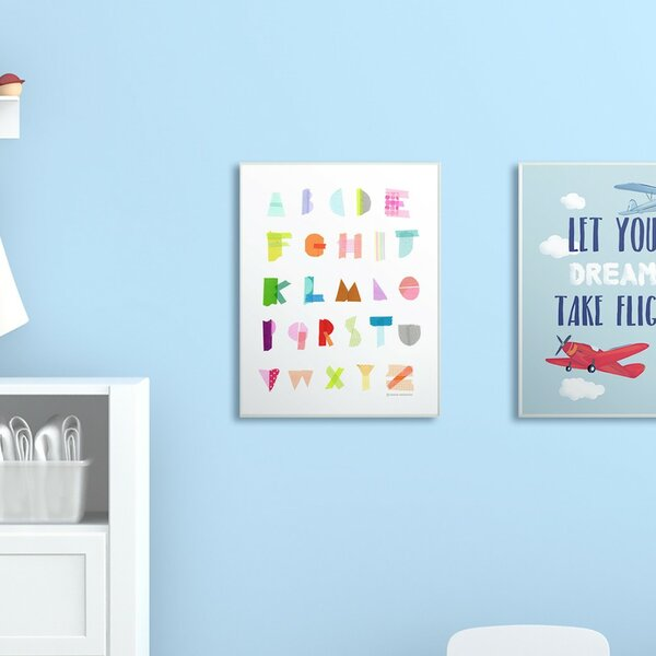 Feeney Alphabet Paper Collage Decorative Plaque by Harriet Bee