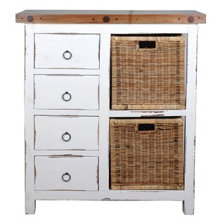 Reviews Wellfleet Whitewashed Accent Cabinet ByRosecliff Heights