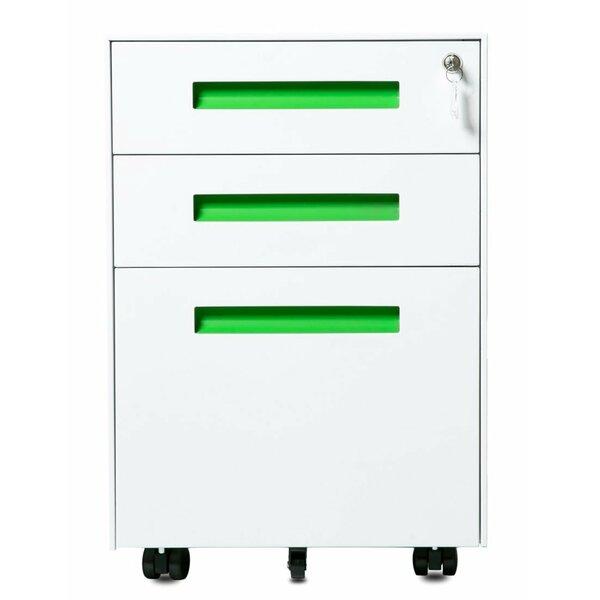Monroy 3-Drawer Mobile Vertical Filing Cabinet by Ebern Designs
