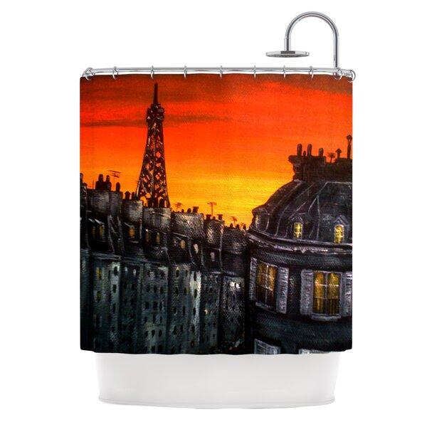 Paris Shower Curtain by KESS InHouse