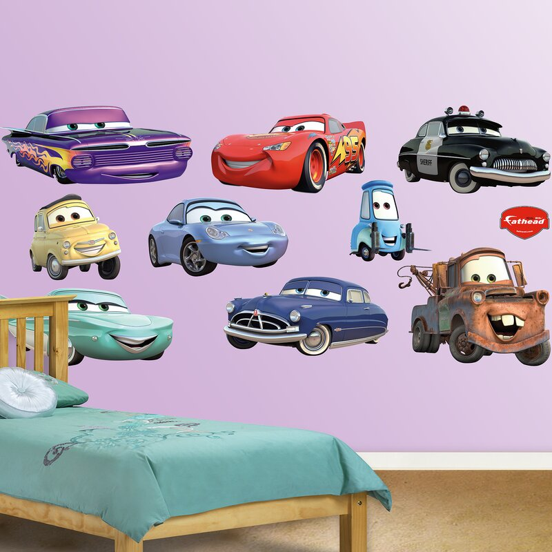 Fathead Disney Cars Wall Decal Reviews Wayfair - Lightning mcqueen custom vinyl decals for carcars lightning mcqueen disney decal sticker window new colorwhi
