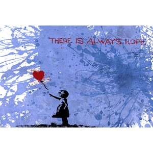 Balloon Girl by Banksy Graphic Art on Wrapped Canvas by Jaxson Rea