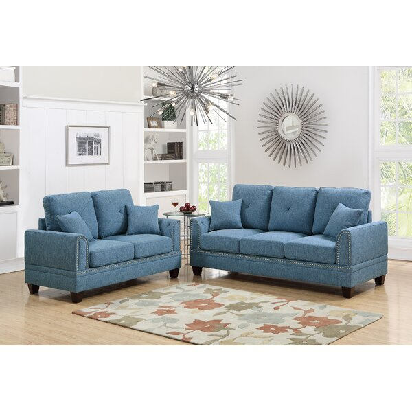 Harmon 2 Piece Living Room Set by Alcott Hill