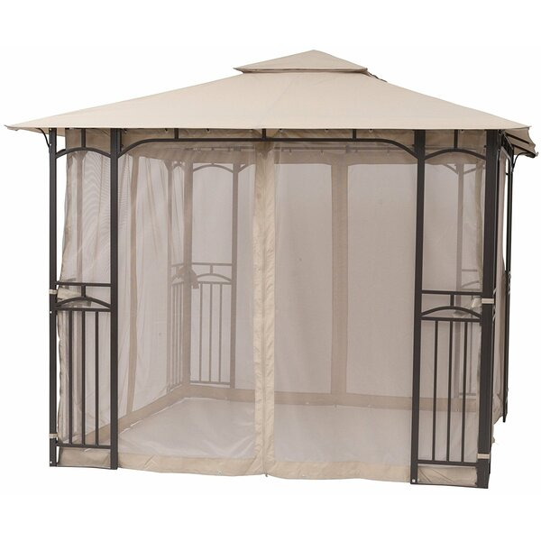 Garden 10 Ft. W x 10 Ft. D Metal Patio Gazebo by SoraraOutdoorLiving